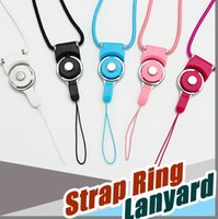Universal Phone Rotatable destacável Neck Strap Ring Lanyard encantos para iphone 7 7s Plus Samsung 8 Edge Drives ID Cards titular 500pcs DHL