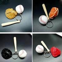 Wholesale Wholesale Sports Souvenir Gifts - Creative baseball key chain bag pendant baseball fans supplies gifts sports memorabilia baseball souvenirs keychains for sale