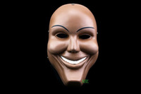Wholesale Party Box Halloween Costumes - Human Smiling Face Masks Halloween Movie The Purge Masquerade Party Props Adults Smile Resin Mask Cosplay Costume Party With Box