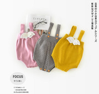 Wholesale spring angle for sale - Group buy INS new arrivals fall baby kids climbing romper cotton little angle wing romper girl boy kids romper kids autumn rompers T color