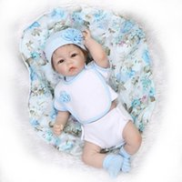 Wholesale Half Body Silicone Doll - 50-55CM SOFT Silicone Reborn Baby Dolls Handmade Half Cloth Boy Body Reborn Babies Doll Toys Baby Growth Partners Brinquedos
