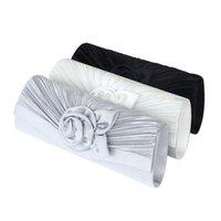 Wholesale Silk Rose Evening Bag - Ladies Rose Satin Handbag Evening Party Wedding Prom Clutch Bag 290Q12