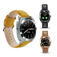 Wholesale New Mp3 Player Camera - 2017 New Smart Watch X3 Smartwatch Pedometer Fitness Clock Camera SIM Card Mp3 Player man for IOS Android Watchphone PK U8 DZ09