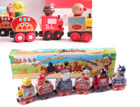 Wholesale Thomas Train Magnetic Toys - Baby Toys Anpanman Magnetic Train Thomas Train Wooden Toys Magnetic Vehicle Blocks Kids Educational Gift
