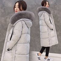 Wholesale Women Hooded Fur Coat Xxl - Down & Parkas WOMEN Down coat real fur collar thicken Duck coat for S M L XL XXL gray black pink