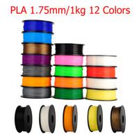Wholesale Abs 1kg - High Guality MakerBot RepRap UP Mendel 12 Colors Optional 3d printer filament PLA ABS 1.75mm 1KG Consumables Material