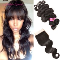 Maylasian Body Wave Hair Extension Weave Et Fermeture Queen Cheap Malaysian Body Wave Weaving 4 Bundles Avec Fermeture Soft Thick Hair Wefts