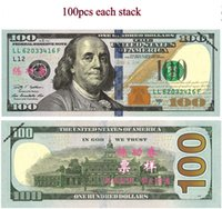 Wholesale Ups Bank - USA Practicing Props Paper Money Collection Latest $100 Bank Training Learning Banknotes Teaching Money Childre Gift 100Pcs