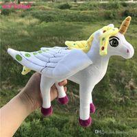 Wholesale Gift Horse Movie - Christmas Gifts Fashion Unicorn Plush Toys Cute Horse Stuffed Doll Children Kids Girls Best Gifts 20cm
