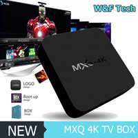 Wholesale Mini Pc Dlna - MXQ-4K Smart Android TV Box Android 6.0 RK3229 Quad Core 32bit UHD 4K HDMI Mini PC WiFi Miracast DLNA Intelligent Smart Player