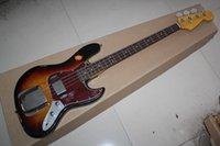 Wholesale Electric Jazz Bass String - wholesale Free shipping High Quality Custom body mahogany body 4 string FD Signature Jazz Bass old Electric guitar @31