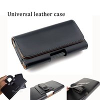 Wholesale Iphone Leather Wallet Wholesale - quality PU Leather Universal Holster 3.5inch to 6.3 inch strong cellphone protector mobile holder for smart cellphone