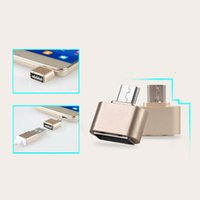 Wholesale Usb Ubs - Micro USB 2.0 OTG Adapter Converter Connector Micro UBS To Usb Otg Hub For Samsung Huawei Xiaomi Android To Keybord Tablet MP3 GSCP2464