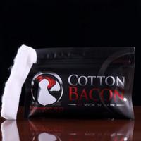 Wholesale E Cigarette Atomizer Parts - COTTON BACON 2.0 Cotton 100% Pure Bacon Cotton By Wick N Vape For DIY RDA RBA Atomizers E Cigarette Vaporizers Free