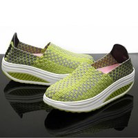 Wholesale Comfort Shoes Pump - Women's Pumps Shoes Slimming Single Shaping Knitted Loafers 2016 Spring Autumn high heel shoes comfort wedges shoes 16092002