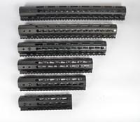 Wholesale handguard rails - 7,9,10,12,13.5,15 inch Free Float Keymod Handguard ultralight design Monolithic top rail Aluminum Barrel nut