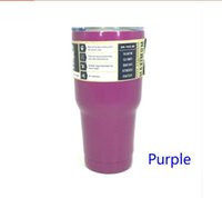Wholesale Coloured Mugs Wholesale - DHL fast free ship ! 30oz stainless steel mugs for yeti style cups 7 colours top quality with best priceFashion Large Capacity 304 Liquid St