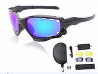 Wholesale Airsoft Glasses Black - Sport Cycling Glasses Eyewear Bicycle Bike Sunglasses 3 Lentes Gafas Airsoft Oculos Occhiali De Ciclismo 2016 J041-set