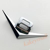 Wholesale metal decor autos - Silver Style Chrome Metal Auto Vehicle Accessories Trim Decal Sticker 3D V8 Badge Logo Emblem Decor