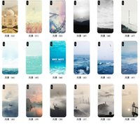 Wholesale Drawing Skin Iphone - Colored Drawing Scenery Clear Soft TPU Gel Slim Thin Mountain City Sunset Ocean Natural Landscape Skin Cover Case For iPhone X 8 7 Plus 6 6S