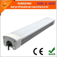 2016 0.6m New Surface Mounted LED Batten Zweireihige Röhren Lichter 2FT Fixture Purificati Tri-Beweis Lichtschlauch 20W 30W AC 110-240V LED