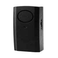 Wholesale Wholesale Black Window Alarm - New Black Security Door Window Vibration Detector Alarm 120dB Magnetic Bar E00387 BARD