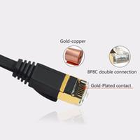 ingrosso rj45 15m-Cavo CAT di rete Ethernet CAT7 RJ45 10G Ethernet all'ingrosso a 1 / 1,8 / 3/5/8/10 / 15M nero