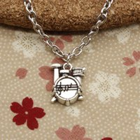 Wholesale Diy Drum Set - New Fashion Tibetan Silver pendant stopwatch watch drum set 16*14*4mm Necklace, Round chain DIY Hand made Necklace Jewelry