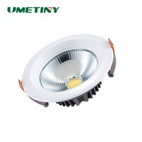 Atacado- UMETINY Epistar LED COB Downlight 3W / 5W / 12W / 20W lâmpada de teto redondo LED embutido Down Light Interior Down Lamp Spot Lights Blub
