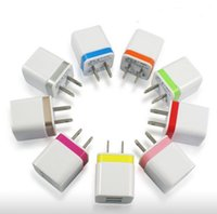 USB EU / US Plug AC Cargador de pared Europa Travel Power Adapter para el iPhone Samsung LG G4