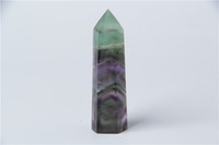 Wholesale Home Decoration Crystal - HJT 33g hot sell New crystal point natural fluorite dream quartz POINTS HEALING crystal quartz wands for selling