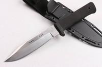 acero frío directo al por mayor-Directo de fábrica de acero frío SRK cuchilla recta de supervivencia 9Cr18 60HRC cuchillo de hoja con acabado satinado cuchillos de cuchilla fija con funda de ABS K