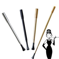 Wholesale Tobacco Series - Women's Long Series Retractable Vintage Cigarette Tobacco Metal Holder Smoking Pipe Or Photographic Props Lady Cigarettes Holder