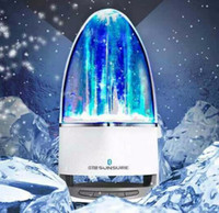 Wholesale Iphone Water Fountain Speakers - LED Usb Dancing Water Speaker Bluetooth Hansfree Wireless Soundar Fountain Show Music Light Computer Speakers For Samsung iPhone Laptop