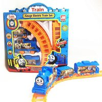 Wholesale Thomas Train Toy Plastic - children's toys Thomas electric rail children car train rail baby toy model car race