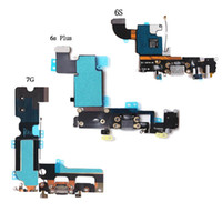 Wholesale parts port - For iPhone 6 6S Plus 5.5 inch Charger Charging port Dock USB connector flex cable Parts