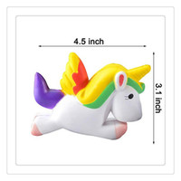 Atacado Kawaii Squishies Soft Unicorn Squishy Charms Slow Rising Squishies Adultos alivia Stress Anxiety Toy Storage Gabinete DHL grátis