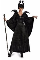 2017 HOT Role Play Sleeping Fluch Black Witch Halloween Bräuche Teufel Adlut Maleficent Cosplay Kostüm für Frauen Bühnen Performance Kleidung