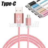 1M 3FT Tipo C intrecciato connettore metallico Micro USB 3.1 Tipo-C Maschio Data Sync Charging Cabl per Galaxy Note7 Nota 7 Nuovo Macbook