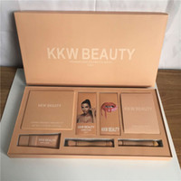 Wholesale Bb Beauty Cream - Kylie Jenner KKW BEAUTY Persistent Cosmetic Sets 7in1 Lipgloss highlighter contour kit Brush Kim BB Cream Full Set DHL 3 Sets
