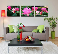 Impression Giclée Art Wall Wall Art Water Lily Flower Image Floral Contemporaine Home Decor Set30282