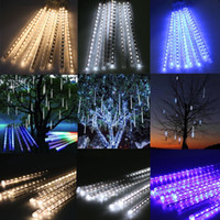 Wholesale Tube Decoration - 20CM 30CM 50CM Meteor Shower Rain Tubes LED Mini Meteor Lights LED Strings Light 8pcs LED Light For Christmas Wedding Garden Decoration