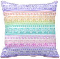 Wholesale Aztec Pillows - Pastel rainbow pink girly aztec throw pillow 50% cotton and 50% linen material color as shown 16x16inch 18x18inch 20x20inch