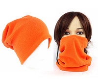 Wholesale Snowboarding Scarves - Hot Sale Unisex Polar Fleece Neck Warmer Thermal Snood Scarf Hat Wear Snowboarding size about 26x30cm free Shipping