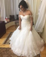 Wholesale Satin Bodice Chiffon Dress - 2016 Full Lace Wedding Dresses A Line Bateau Capped Sleeves Illusion Back with Chiffon Train Court Train Elegant Beach Bridal Gowns