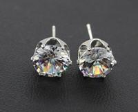 Wholesale Crystal Stud Earrings Men - silver earrings natural crystal wholesale fashion small sterling silver jewelry for women stud men or women earings