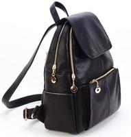 sırt çantaları koreası toptan satış-Toptan-Yeni Kore moda hakiki deri çanta kadın sırt çantası deri okul sırt çantası kadın kadın seyahat sırt çantası kız Ücretsiz nakliye için