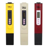 test de l'eau achat en gros de-DHL 50 PCS TDS-3 PH testeur Portable Numérique LCD Test de la qualité de l'eau Pen filtre de pureté TDS mètre testeur