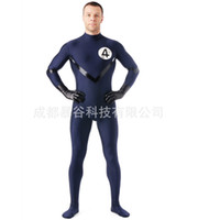 neuf de haute qualité Lycra Zentai Second Skintight SuitsNo Capuche Mock Neck Spandex Unitard Mens Cosplay Bodys Body gros-2016