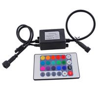 rohs ir remote venda por atacado-Controlador infravermelho RGB 72 W IP67 À Prova D 'Água Mini Controlador LEVOU com Controle Remoto IR Boca Para RGB CONDUZIU as Luzes do Bulbo DC12V com 24 Teclas